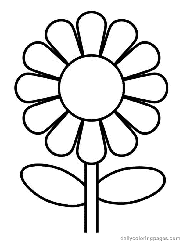 Free flower coloring pages from theKidzpage -- Printable - coloring pages for kids flowers