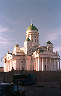 Church in downtown Helsinki, Finland.