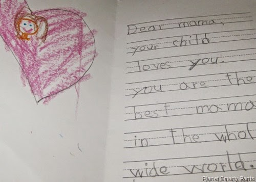 Kindergarten Mother's Day Card