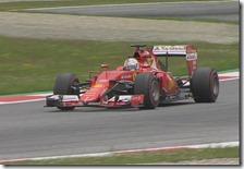 Sebastian Vettel nelle prove libere del gran premio d'Austria 2015