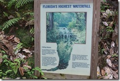 Waterfall info sign