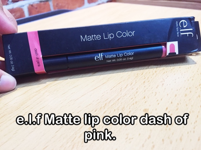 e.l.f matte lip colour dash of pink