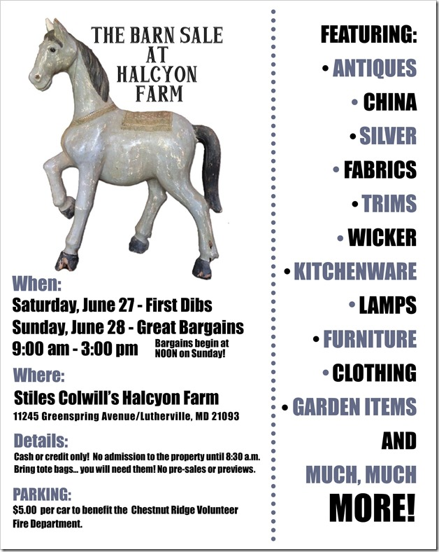 BARN SALE FLYER