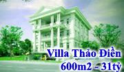Villa Thảo Điền, Biệt thự Thảo Điền, DTXD:600m2 Giá 50 triệu/m2, 35 tỷ/villa