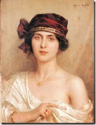 1y Albert Lynch (Peruvian artist, 1851-1912) Portrait of a Young Woman