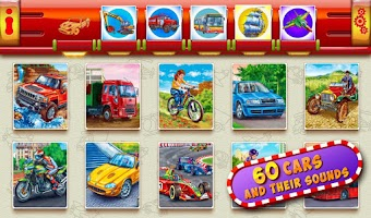 Screenshot of Cars for Kids!Sounds flashcard