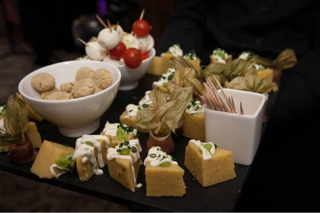 wedding reception, canapes