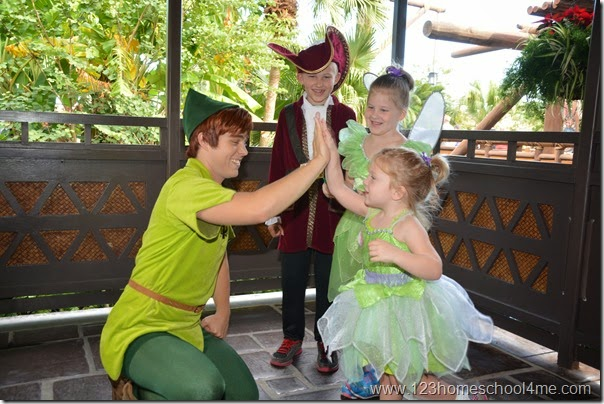 Memorable Character Interactions like Peter Pan at Disney World
