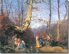 Waldmüller, Ferdinand Georg  Vorfrühling im Wiener Wald 1862