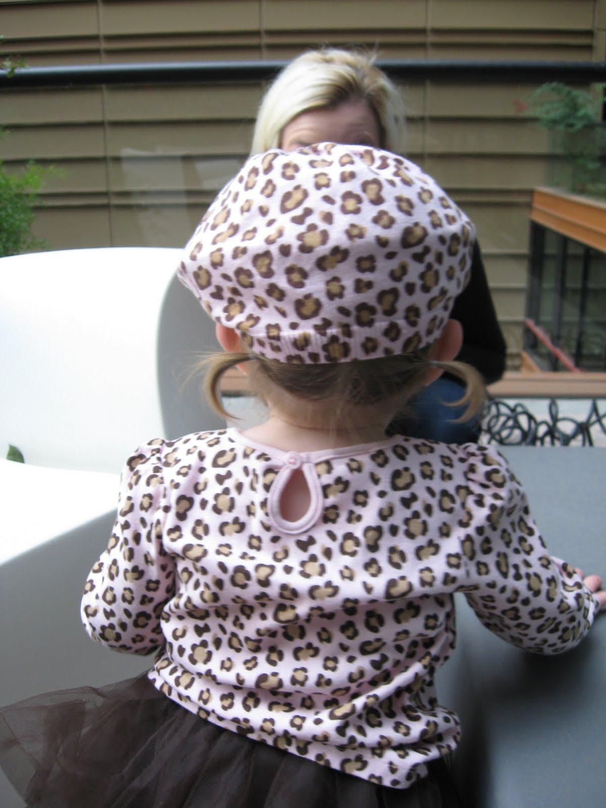 matching leopard boots.