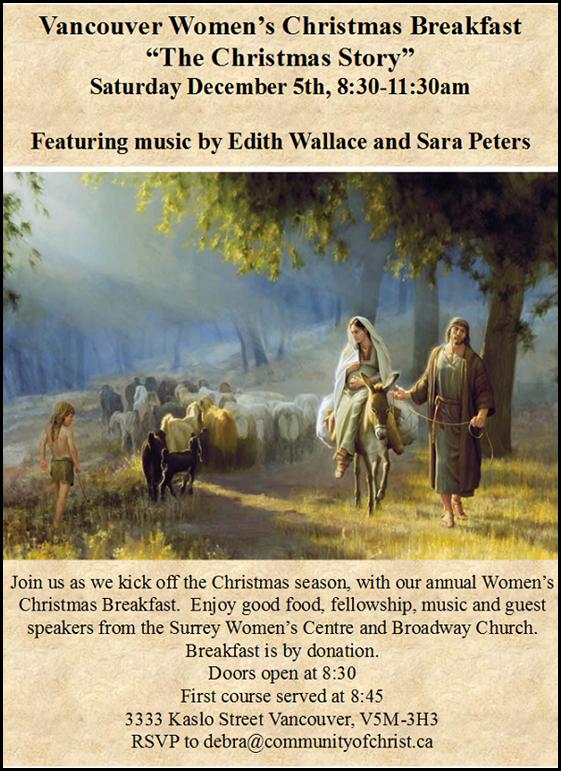 Women's Christmas Breakfast flyer