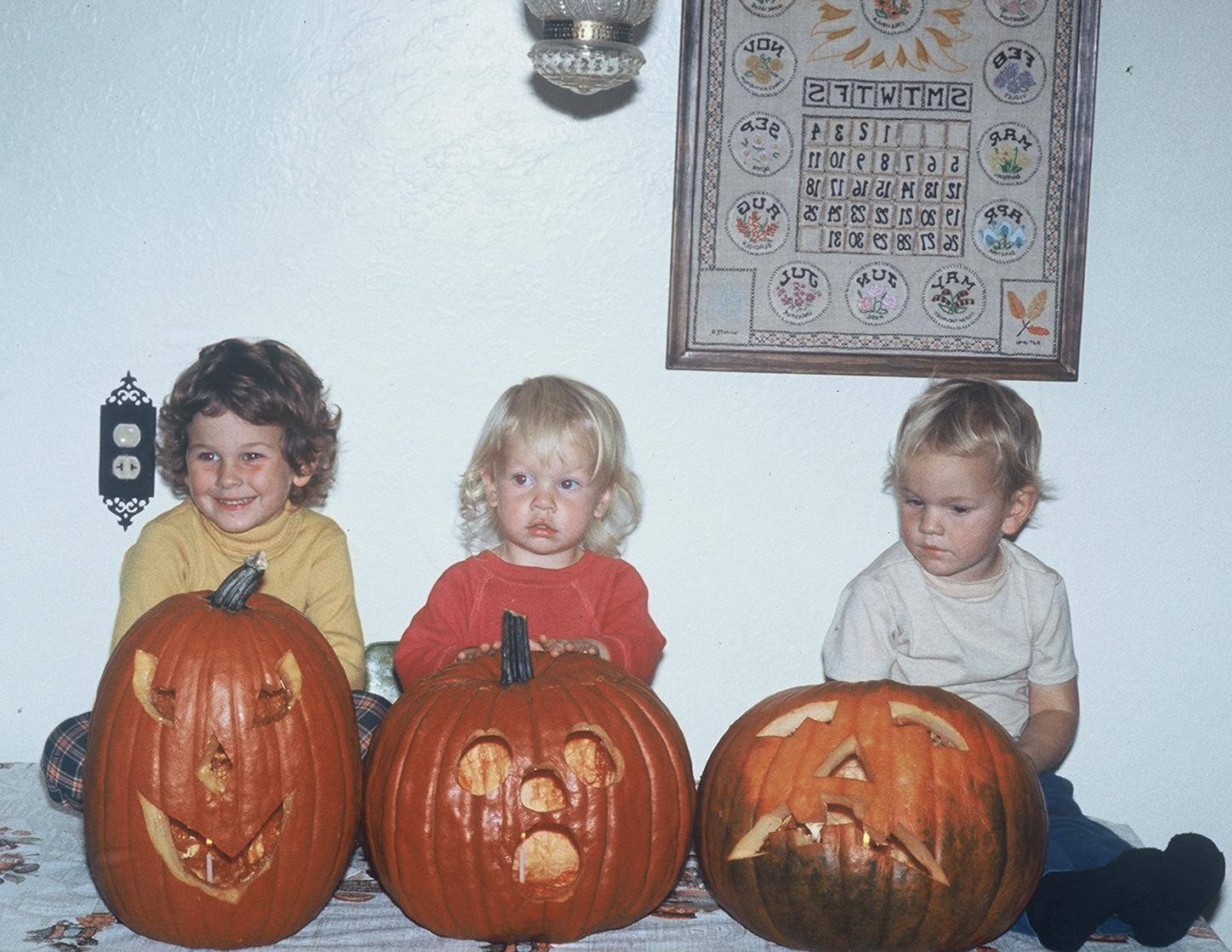 and siblings, circa 1974