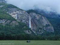 Wasserfall zwischen Sallanches und Cluses im Arve-Tal.