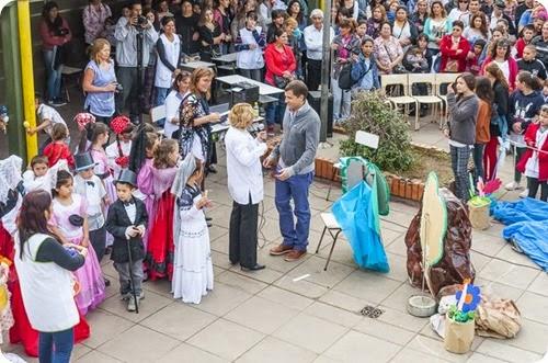 Festejo del 25 de Mayo en la EP5 de Santa Teresita