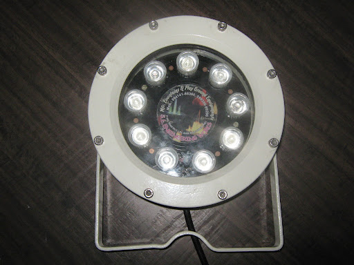 LED Light Water Proof RGB 9 Wt for Fountain & Swimming Pools.<br />Mfd By: S.L.Engineering Works - 099286 99296.