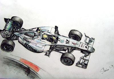рисунок болида Нико Росберга Mercedes GP 2010 от shizukayan