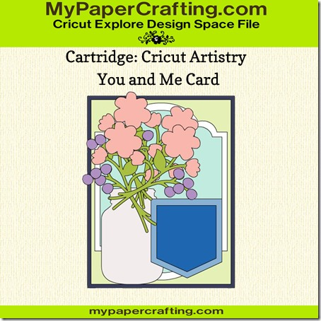 cricut artistry you and me card sample-450