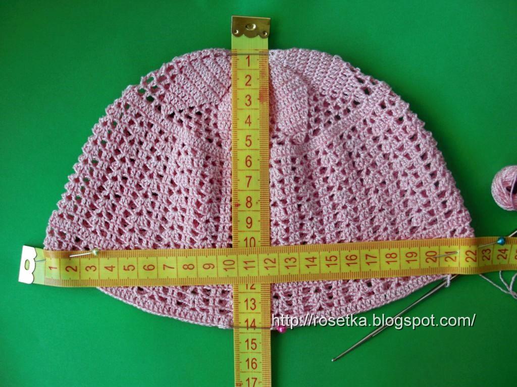 Вязание крючком панамок детских