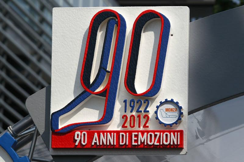1922-2012 - 90 лет гонок в Монце на Гран-при Италии 2012