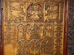 Wooden door at Sevanavank Monastery, Lake Sevan, Armenia.