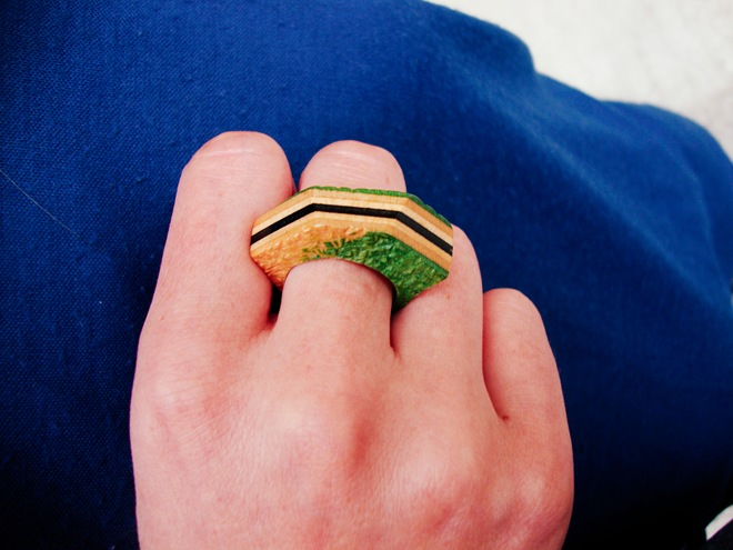 srečko molk wooden artist ring