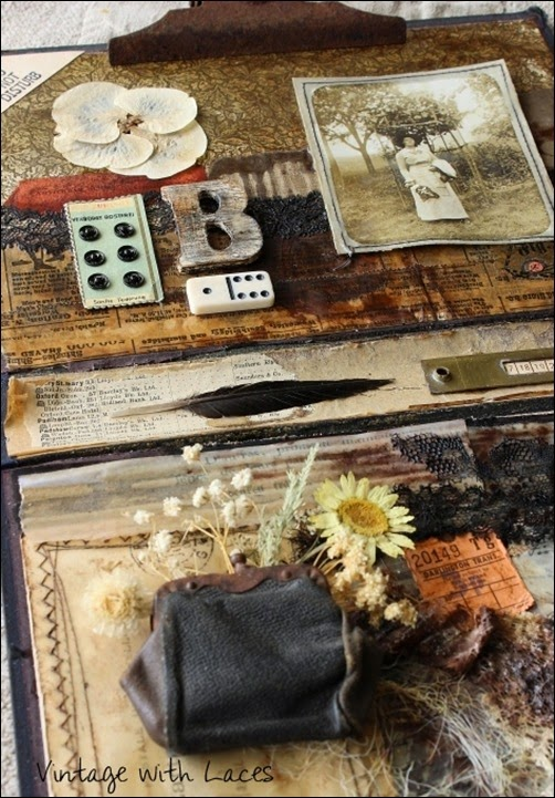 Blanche's Memories - Mixed Media Collage by Vintage with Laces