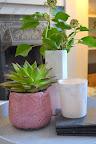 DIY marble vases