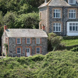 Doc Martin's Residence by Jebark Fineartphotography - Buildings & Architecture Homes ( port, residence, doc martin, cottage, cliff, port wenn, stone, house, seaside, port isaac, cornwall, bbc )