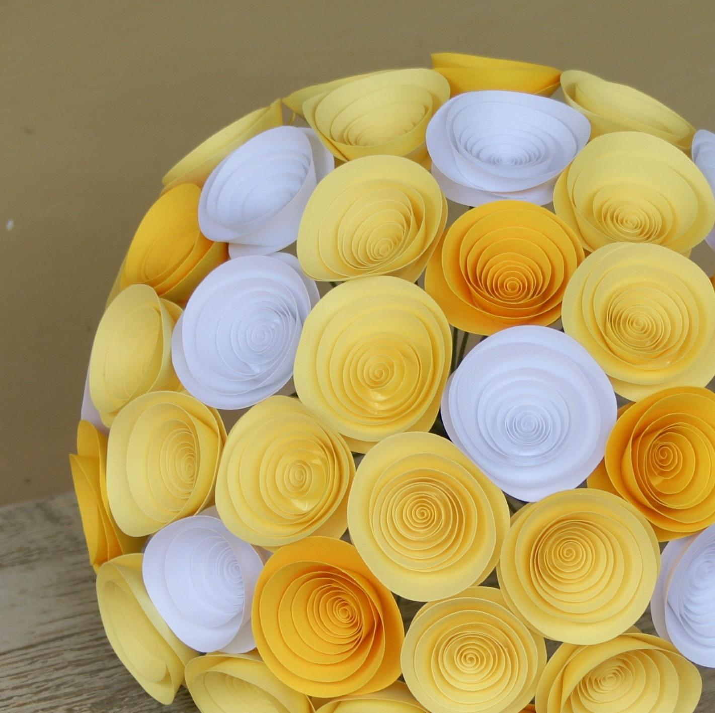 Yellow Bridal Bouquet with