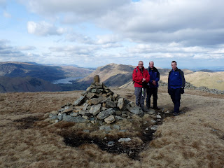One last group gathering before leaving our 9th Wainwright of the day.