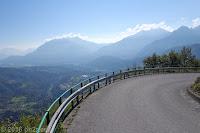 Von Ampezzo zum Passo di Pura (1426m).