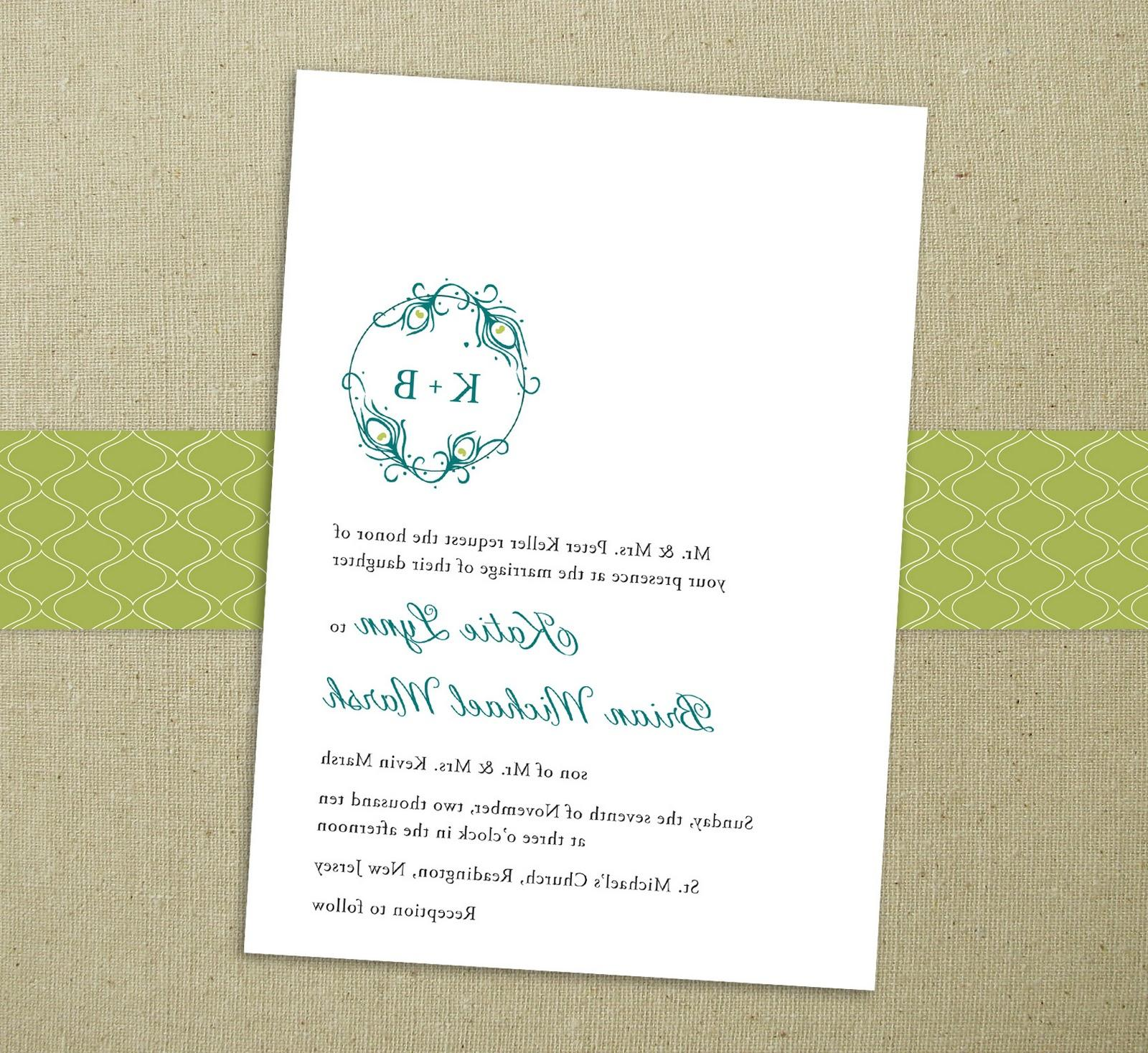 Blank Wedding Invitations from