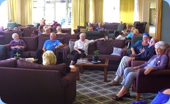 Residents enjoying the music.