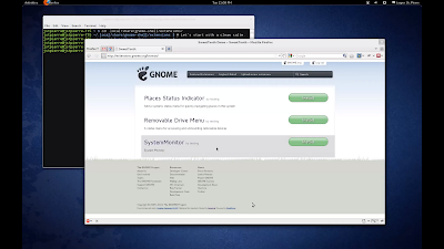 GNOME Shell extension one click install