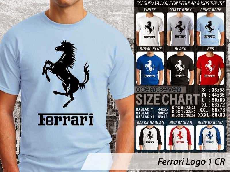 KAOS Ferrari 1 Logo Otomotif distro ocean seven