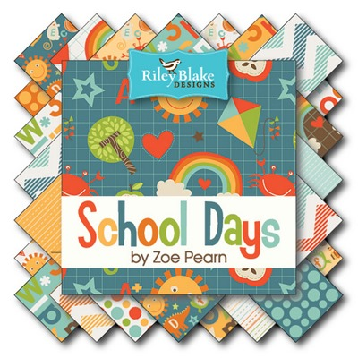 School Days fabric 1