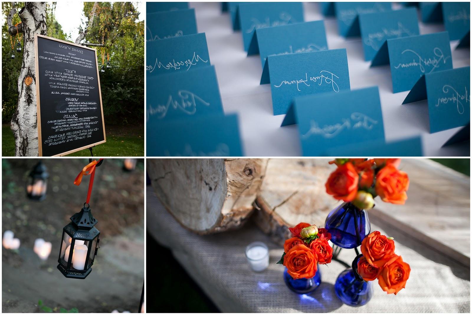 orange-and-blue-wedding