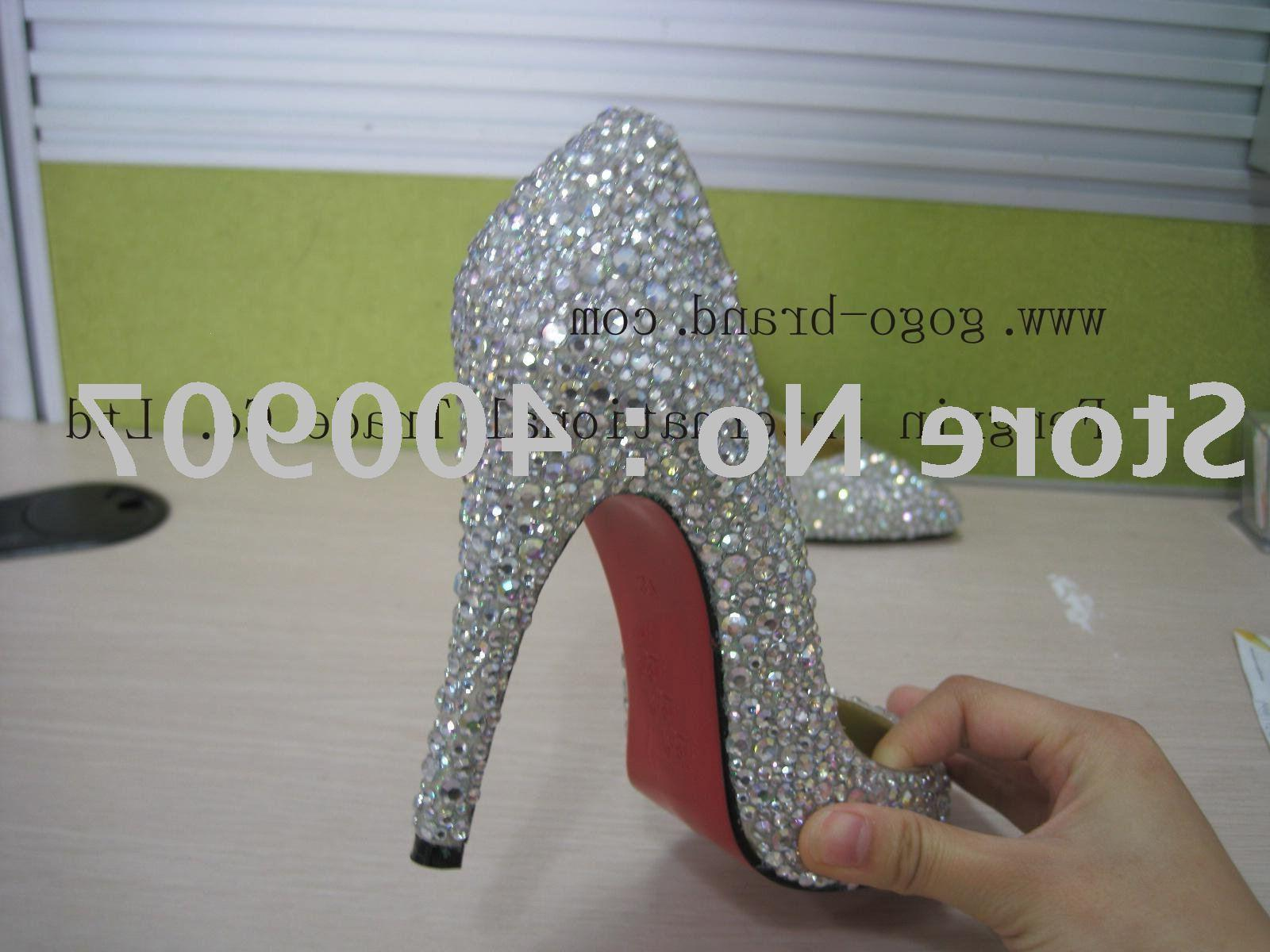 Buy Bridal shoes, elegant bridal shoes, wedding shoes, Crystal high heel