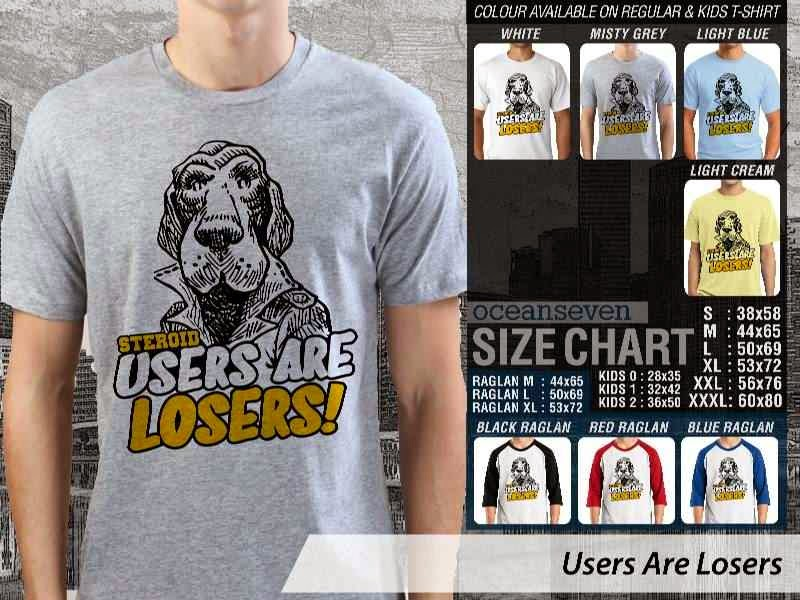 KAOS Desain Fitness & Gym Users Are Losers distro ocean seven