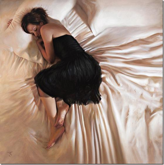 Black Dress IV-Tina-Sprat-ENKAUSTIKOS