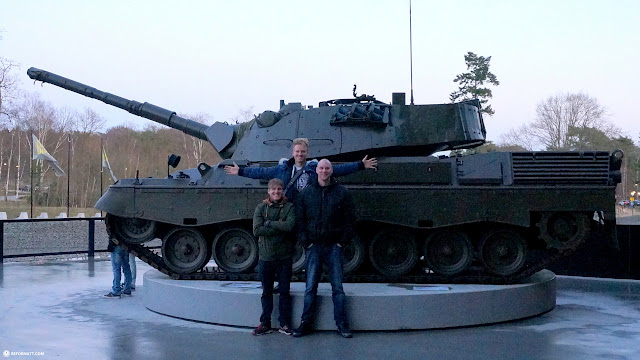 giant tank at the National Military Museum Soesterberg in the Netherlands in Soest, Utrecht, Netherlands