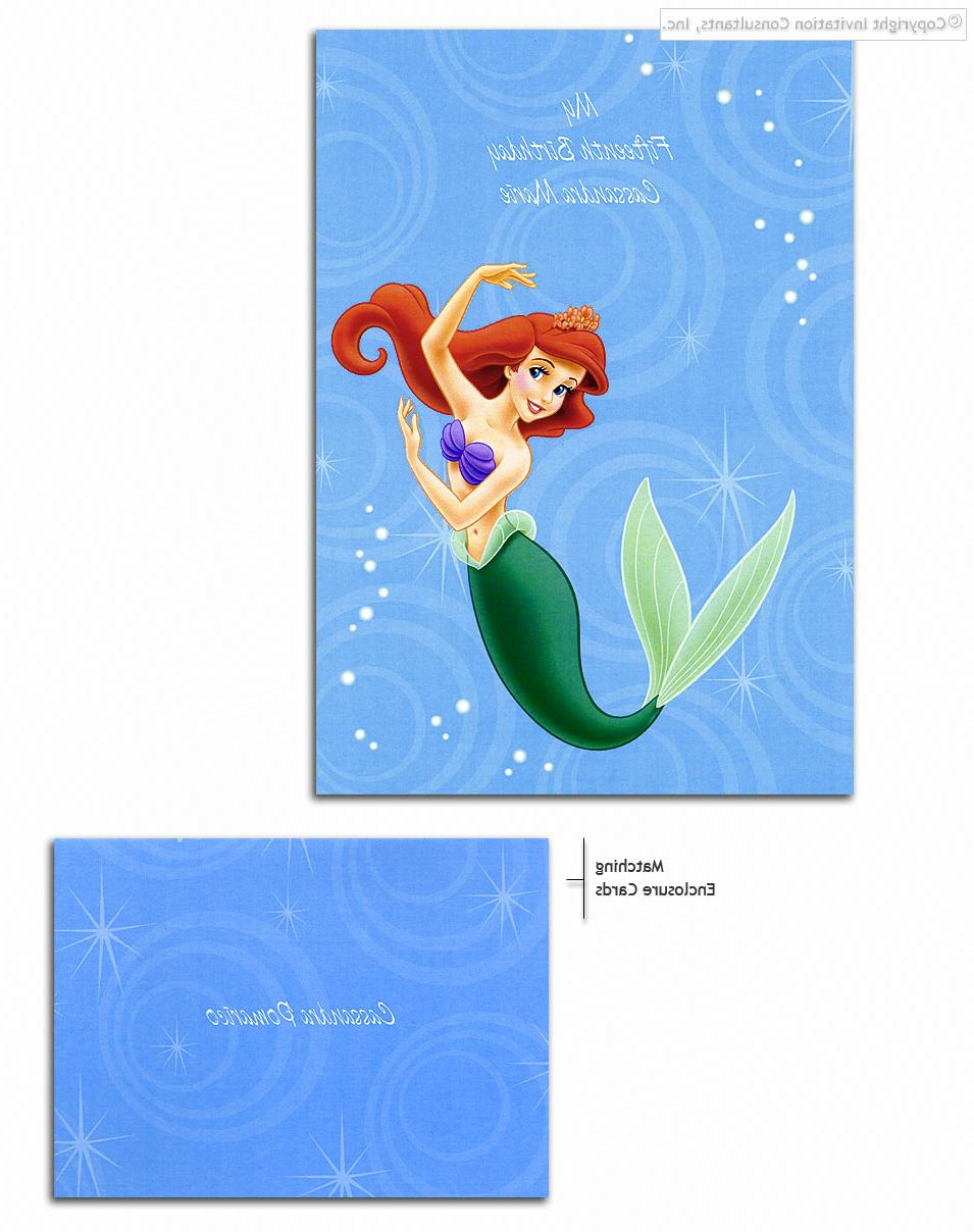 Mermaid Magic - Disney Invitations, Wedding Invitations, Party Invitations
