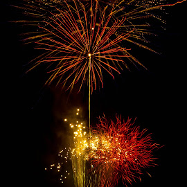 A Celebration by Brenda Hooper - Abstract Fire & Fireworks ( abstract, 4th of july, fireworks, independence day, fire,  )