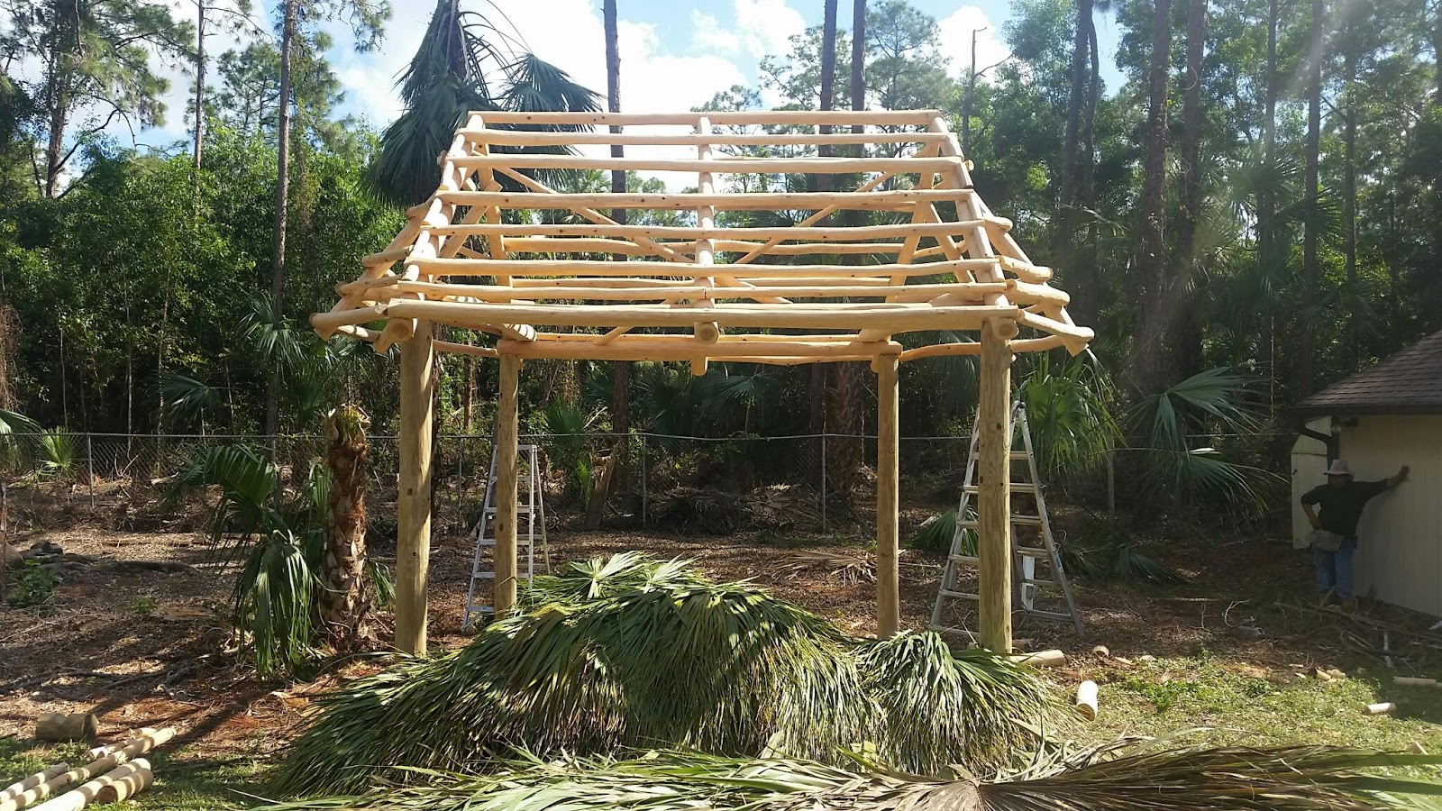 custom built tiki huts