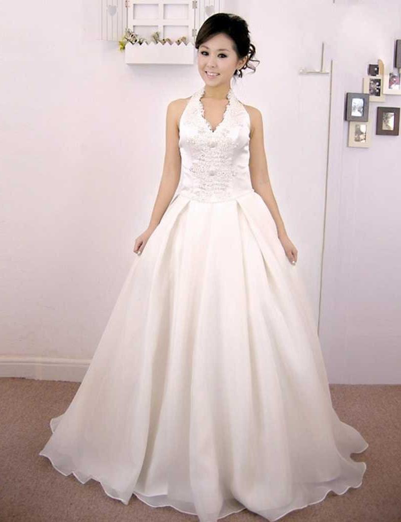 Buy backless bridal gown,