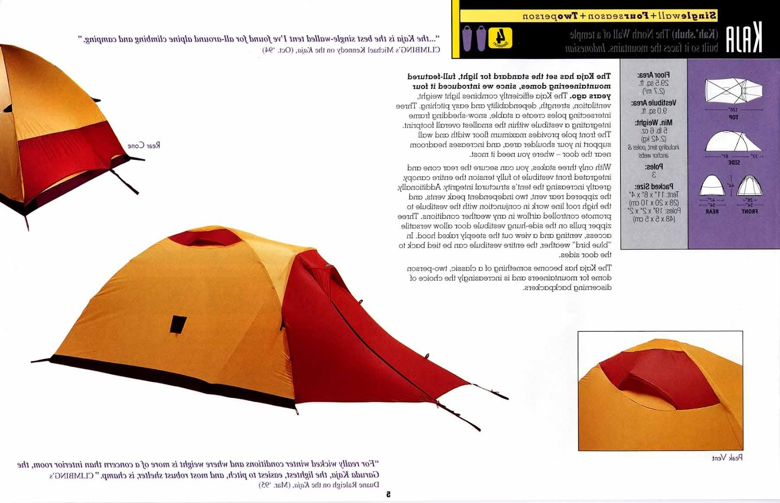 Garuda tent information