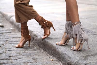 Schutz Kija Suede Tassel Fringe Sandals