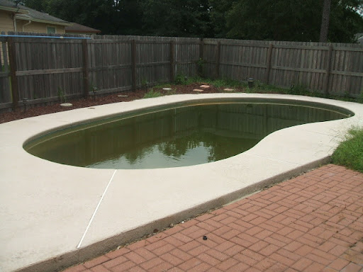 in ground pool needs cleaning