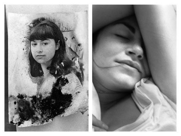 "Photo by Μισέλ Φάις, Αριστερά: Από το λεύκωμα ""Ύστερο βλέμμα"" (1996) - Δεξιά: Α.Κ. (2005)"