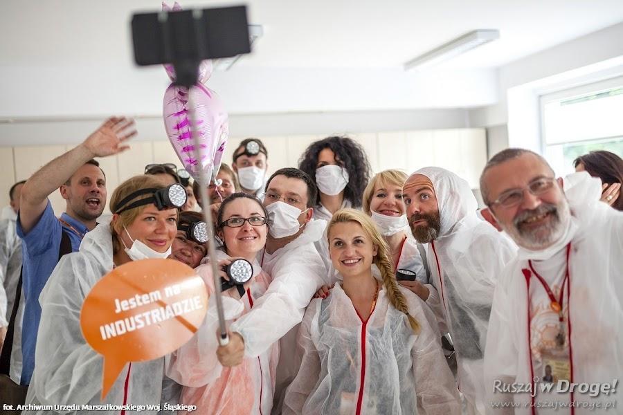 Szalona ekipa wizyty studyjnej na Industriadzie